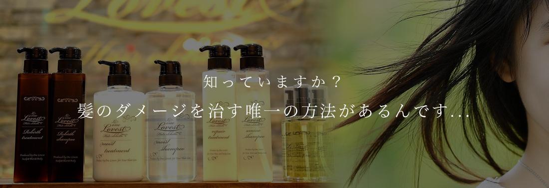 長野市の長野駅前にある髪質改善美容室 One Lovest Hair olchette 知っていますか?髪のダメージを治す唯一の方法があるんです